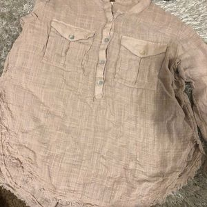 Free people Button down long sleeve blouse